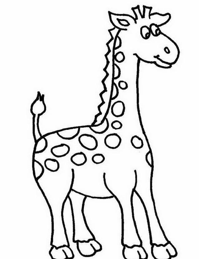 Giraffa da colorare 5