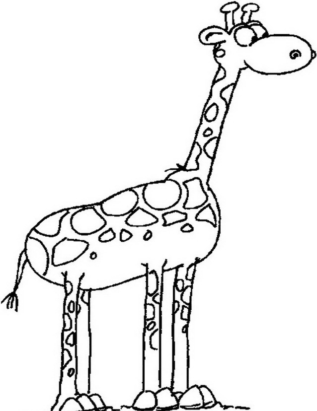 Giraffa da colorare 9