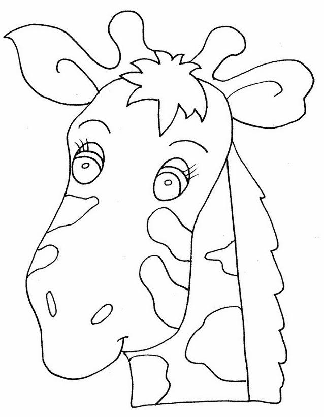 Giraffa da colorare 11