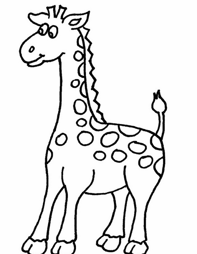 Giraffa da colorare 12