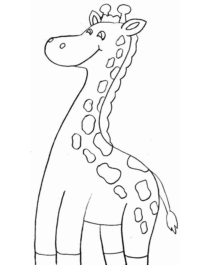 Giraffa da colorare 14