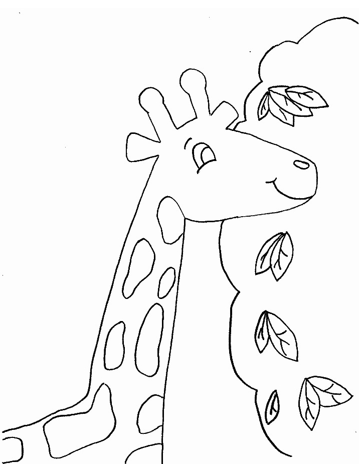 Giraffa da colorare 15