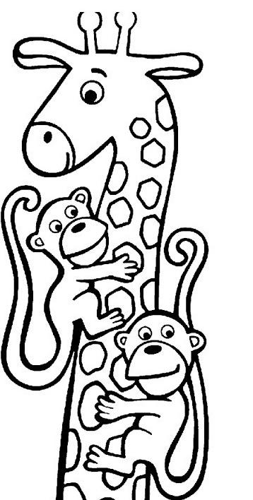Giraffa da colorare 26