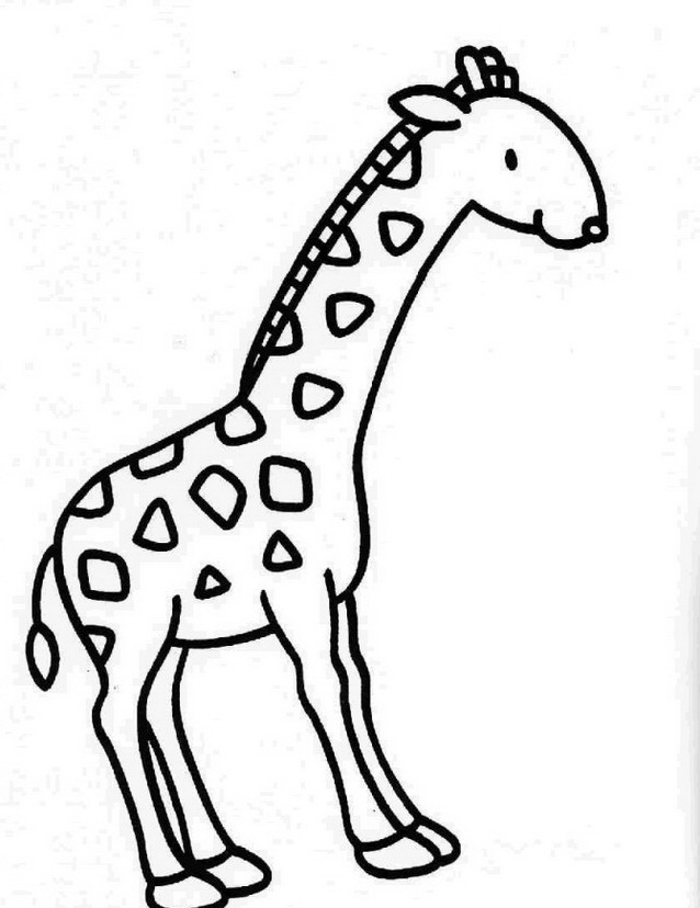 Giraffa da colorare 27
