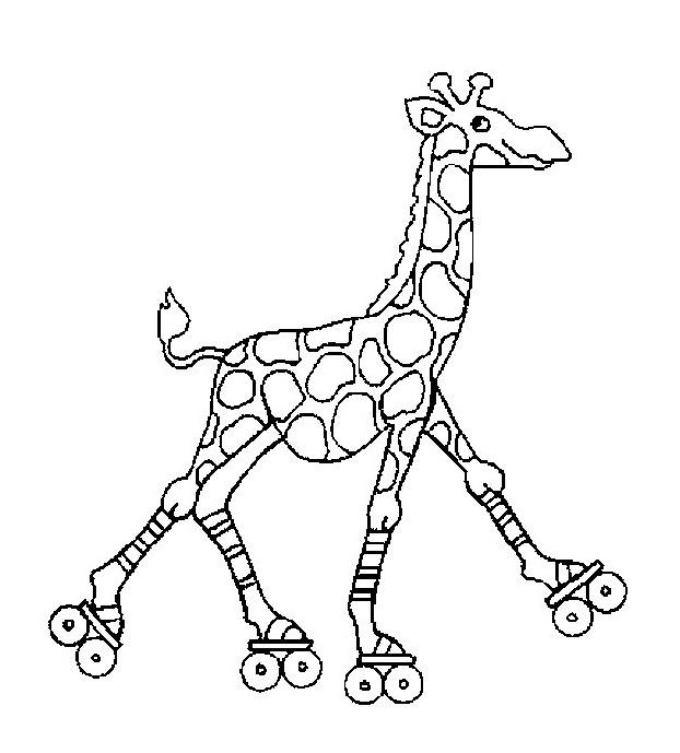 Giraffa da colorare 31