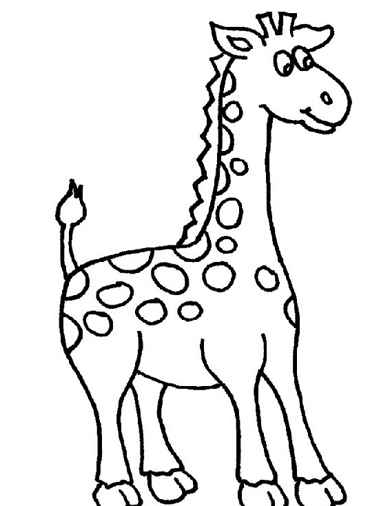 Giraffa da colorare 36