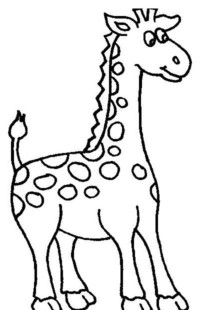 Giraffa da colorare 38