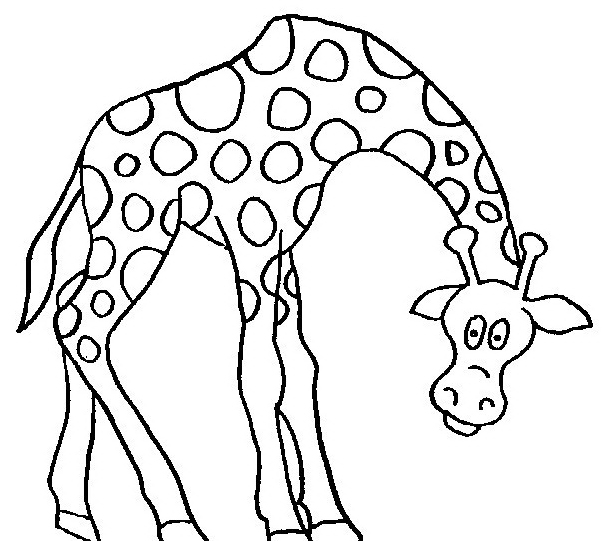 Giraffa da colorare 41
