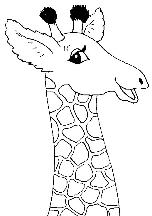 Giraffa da colorare 42