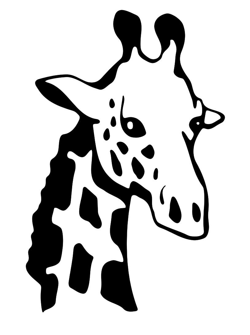 Giraffa da colorare 48