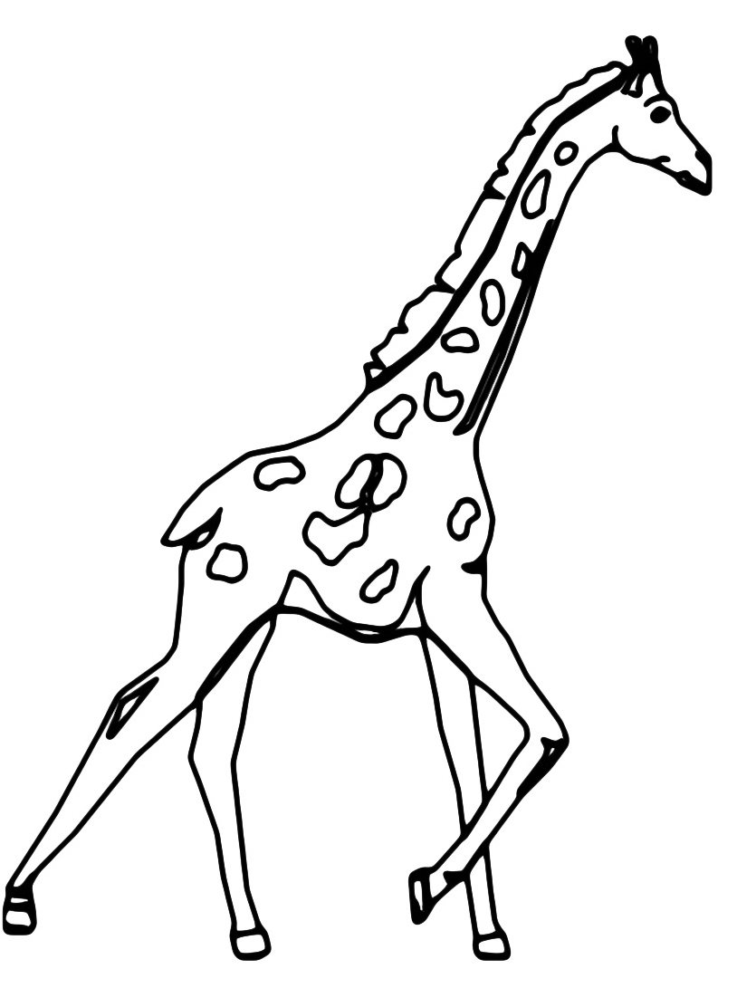 Giraffa da colorare 50