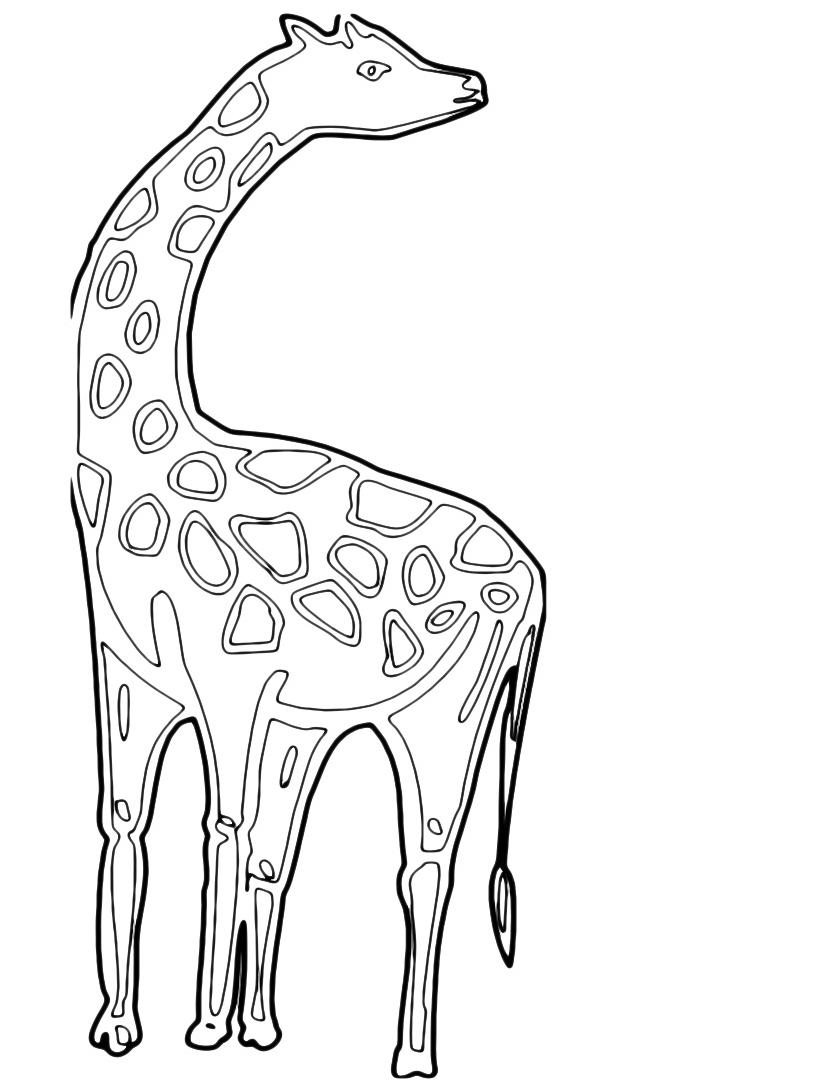 Giraffa da colorare 53