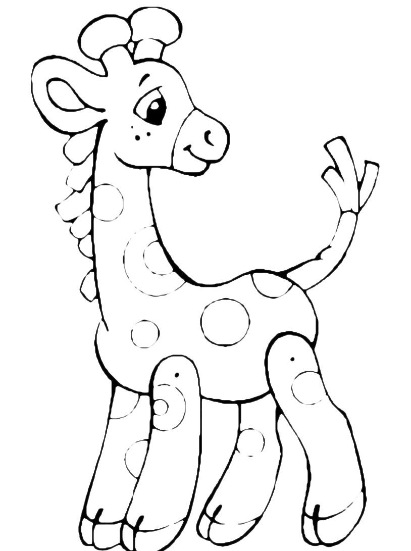 Giraffa da colorare 54