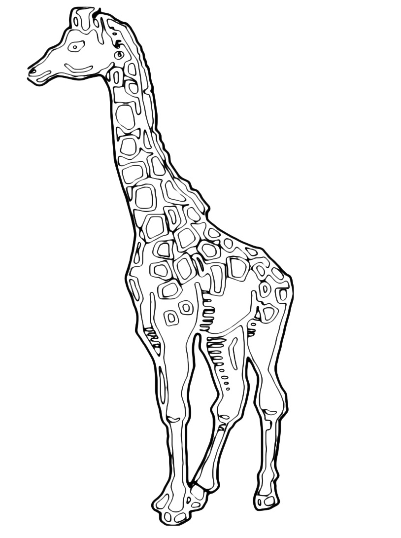 Giraffa da colorare 55