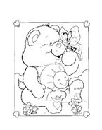 Gli orsetti del cuore da colorare