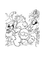 Gli orsetti del cuore da colorare 8