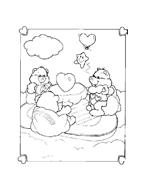 Gli orsetti del cuore da colorare 12