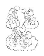 Gli orsetti del cuore da colorare 20