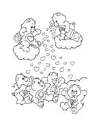 Gli orsetti del cuore da colorare 37