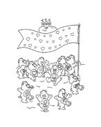 Gli orsetti del cuore da colorare 73