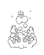 Gli orsetti del cuore da colorare 83