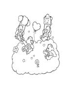 Gli orsetti del cuore da colorare 92