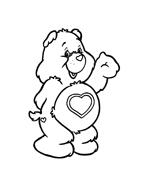 Gli orsetti del cuore da colorare 106