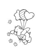 Gli orsetti del cuore da colorare 107