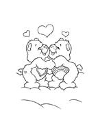 Gli orsetti del cuore da colorare 110
