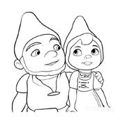 Gnomeo e Giulietta da colorare 6