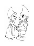 Gnomeo e Giulietta da colorare 10