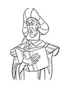 Il gobbo di Notre Dame da colorare