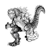 Godzilla da colorare