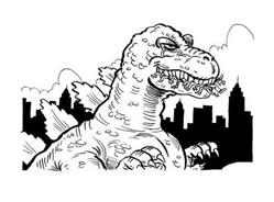 Godzilla da colorare 2