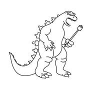Godzilla da colorare 4