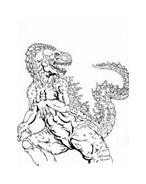 Godzilla da colorare 5