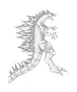 Godzilla da colorare 6