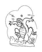 Godzilla da colorare 8