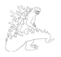 Godzilla da colorare 9