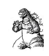 Godzilla da colorare 10