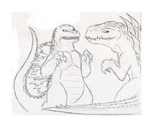 Godzilla da colorare 11