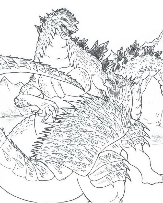 Godzilla da colorare 12