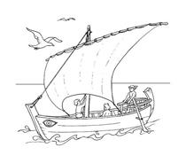 Nave e barca da colorare 65