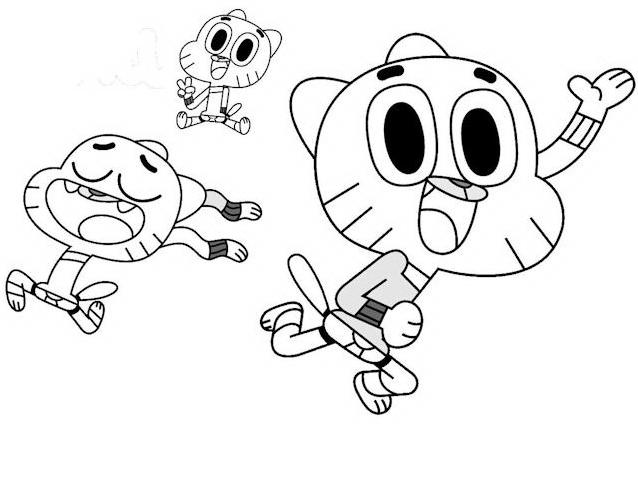 Gumball da colorare 3
