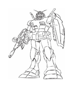 Gundam da colorare 2