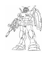Gundam da colorare 2