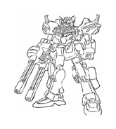 Gundam da colorare 4