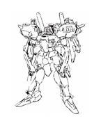 Gundam da colorare 5
