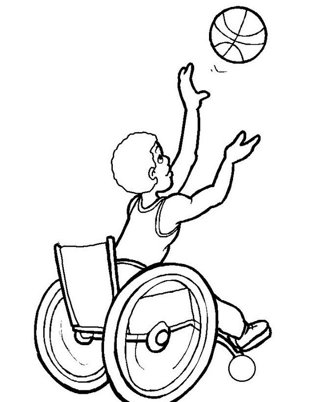Disabile da colorare 11