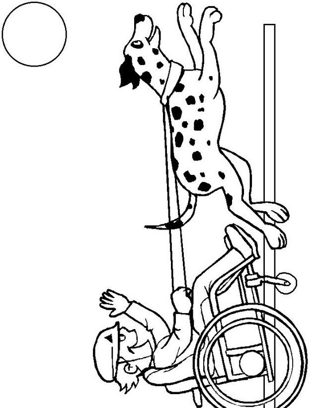 Disabile da colorare 12